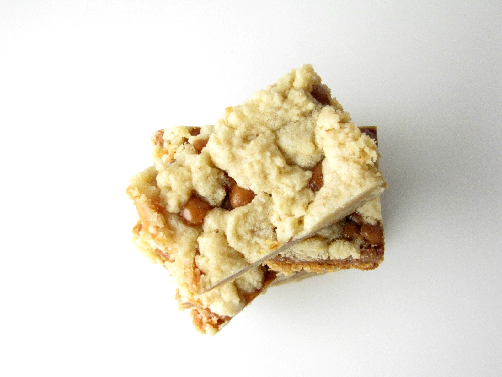 Overhead view of Slow Cooker Salted Caramel Cookie Bars