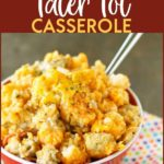 Spice up your traditional Tater Tot Casserole with this Slow Cooker Buffalo Chicken Tater Tot Casserole! Let your slow cooker do the hard work for you and have a tasty, full of flavor meal ready to go when you are. This easy recipe will be a favorite for sure! #buffalochicken #buffalo #casserole #slowcooker #crockpot #tatertot #tatertotcasserole