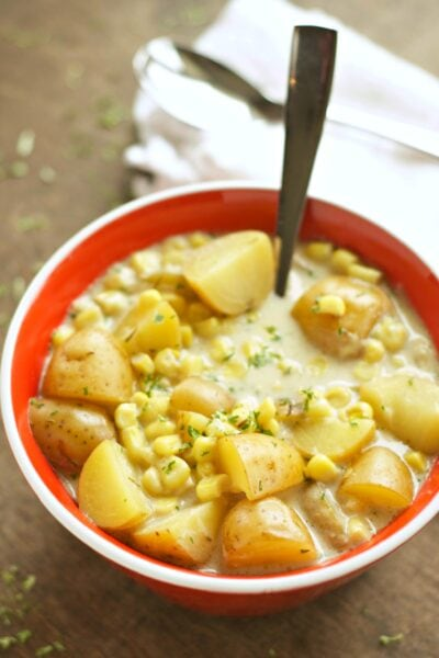 Slow Cooker Corn and Potato Chowder