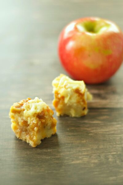 Slow Cooker Caramel Apple Cheesecake Bites