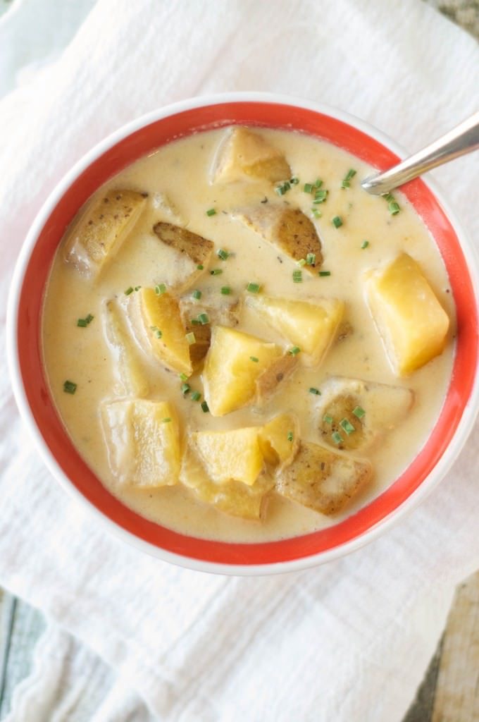 Slow Cooker Beef Cheese Soup-4