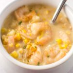 Slow Cooker Cajun Corn and Shrimp Chowder