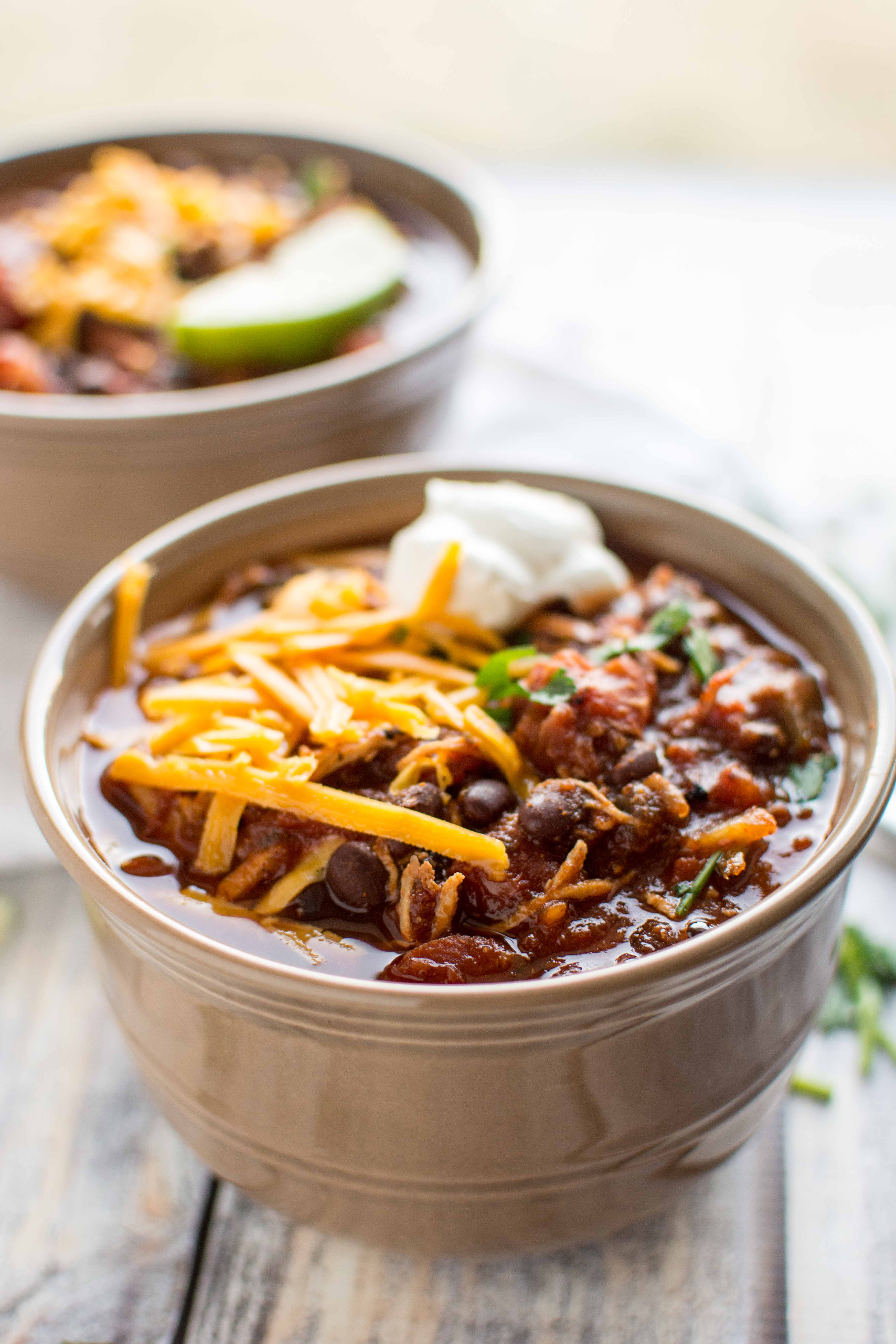 Slow Cooker Roasted Tomato and Ancho Chicken Chili
