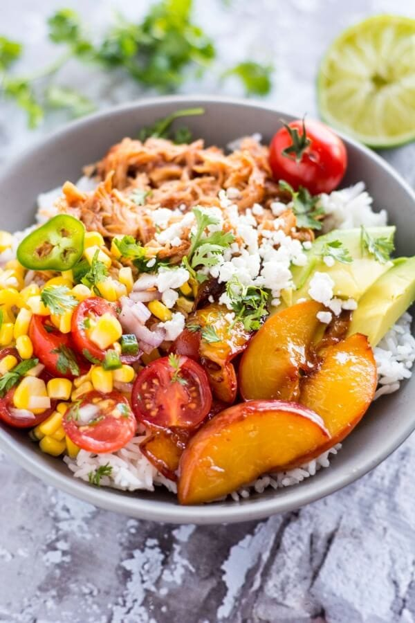 Slow Cooker Jalapeno Chicken Bowls