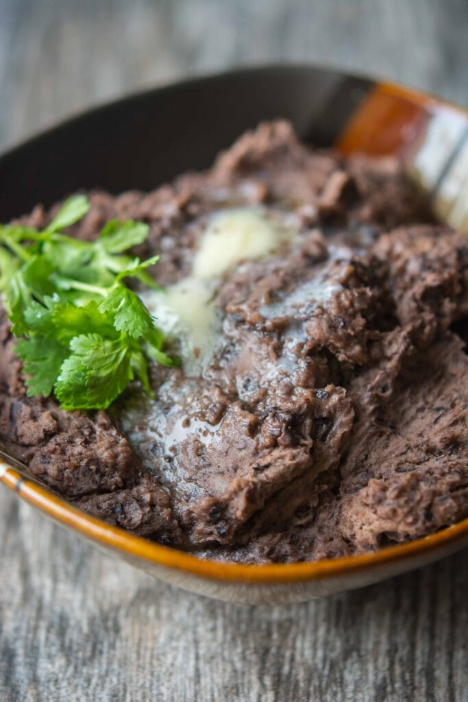 Slow Cooker Refried Black Beans