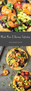 Black Bean & Shrimp Tostados