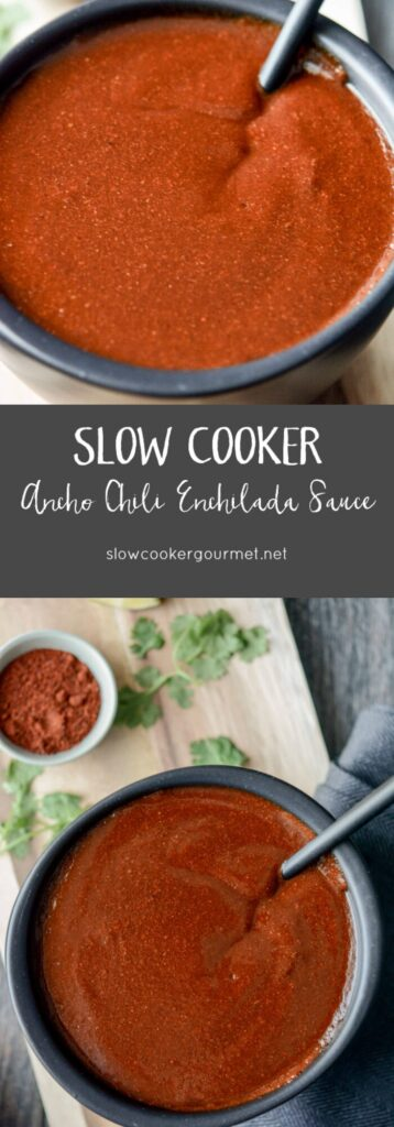 Slow Cooker Ancho Chile Enchilada Sauce