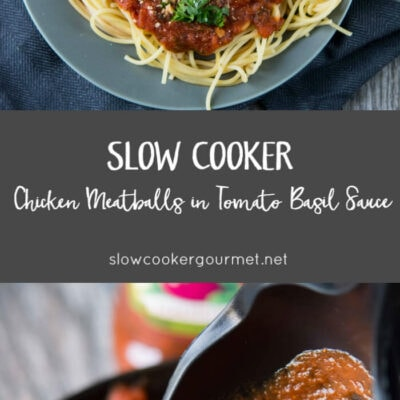 Slow Cooker Chicken Meatballs
