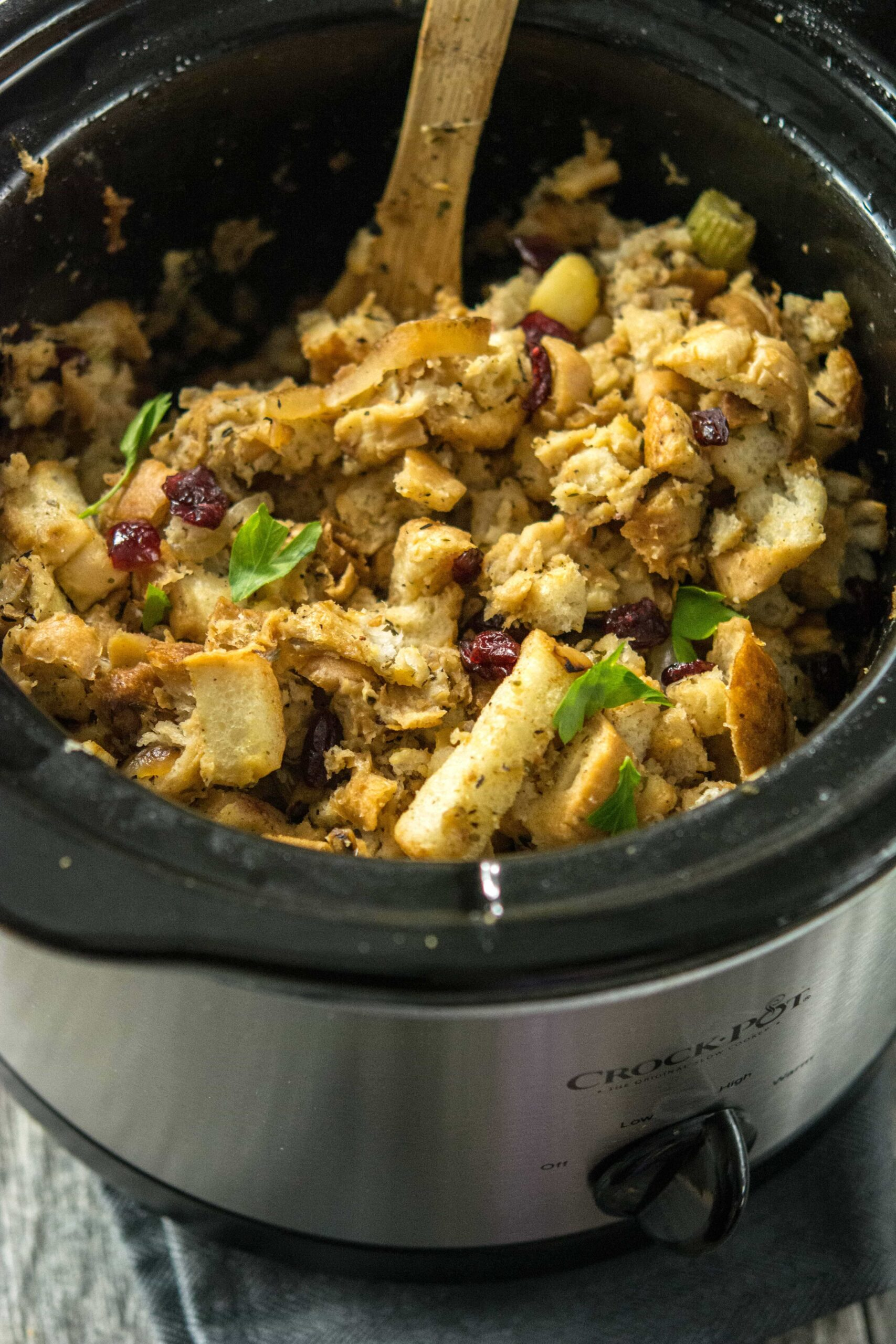 Slow Cooker Stuffing With Caramelized Apple Slow Cooker Gourmet