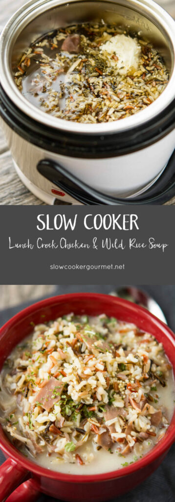 Slow Cooker Lunch Crock Chicken and Wild Rice Soup