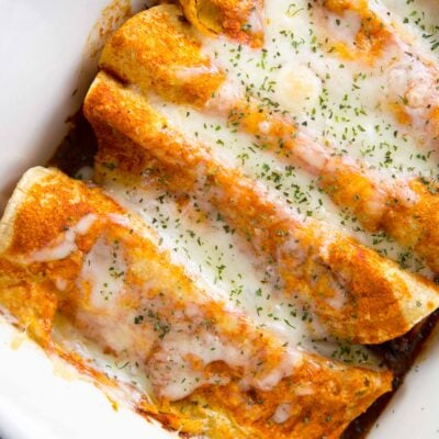 Slow Cooker Ancho Beef Enchiladas