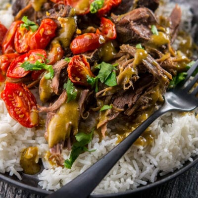 Slow Cooker Pesto Crusted Beef
