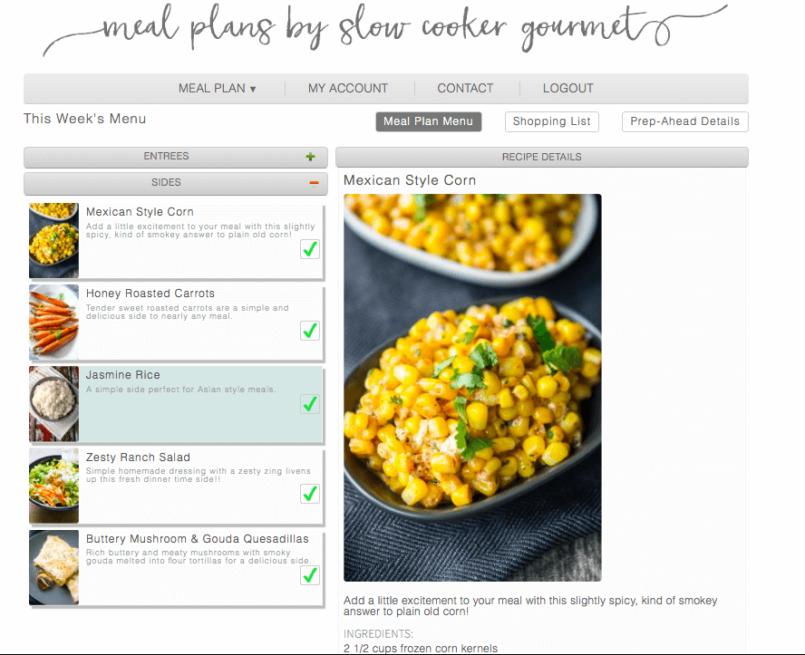 Slow Cooker Meal Plan