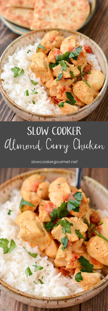 Slow Cooker Almond Curry Chicken
