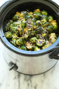 Slow Cooker Balsamic Brussel Sprouts