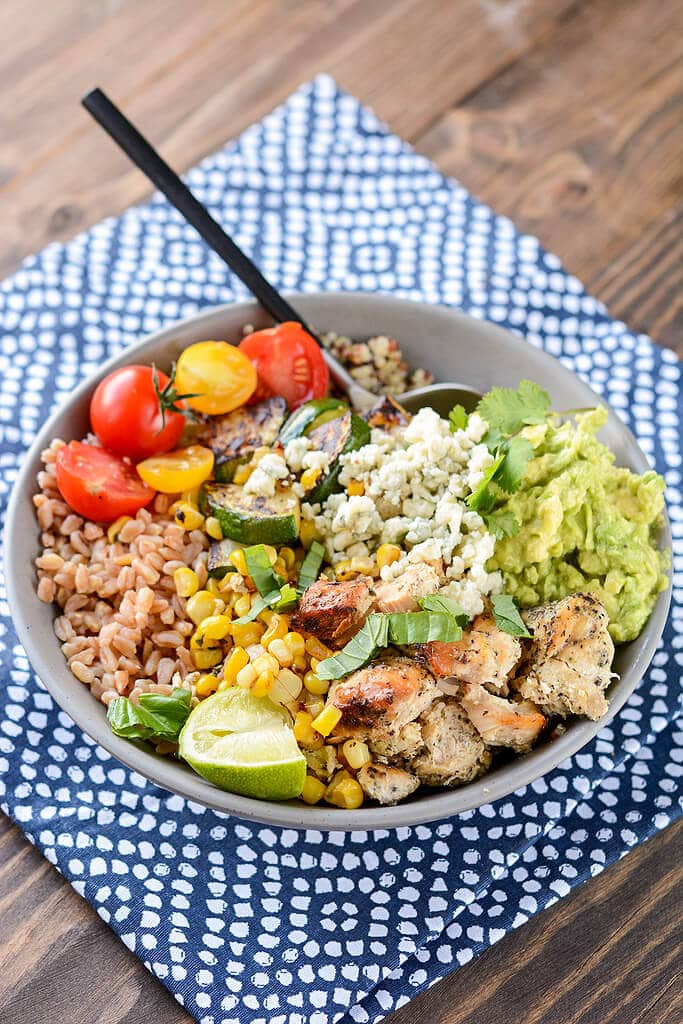 Slow Cooker California Chicken Bowls