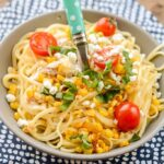 Slow Cooker Chicken Pasta with Corn and Goat Cheese