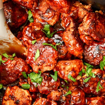 Slow Cooker Honey BBQ Meatballs