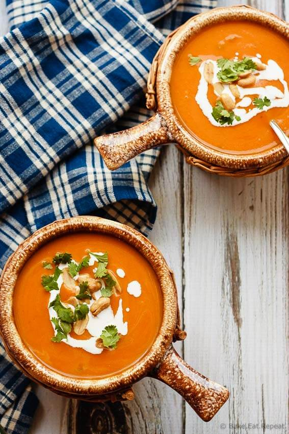 Slow Cooker Thai Pumpkin Soup