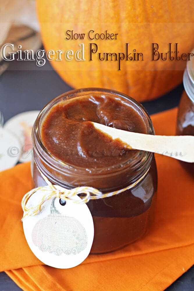 Slow Cooker Gingerbread Pumpkin Butter