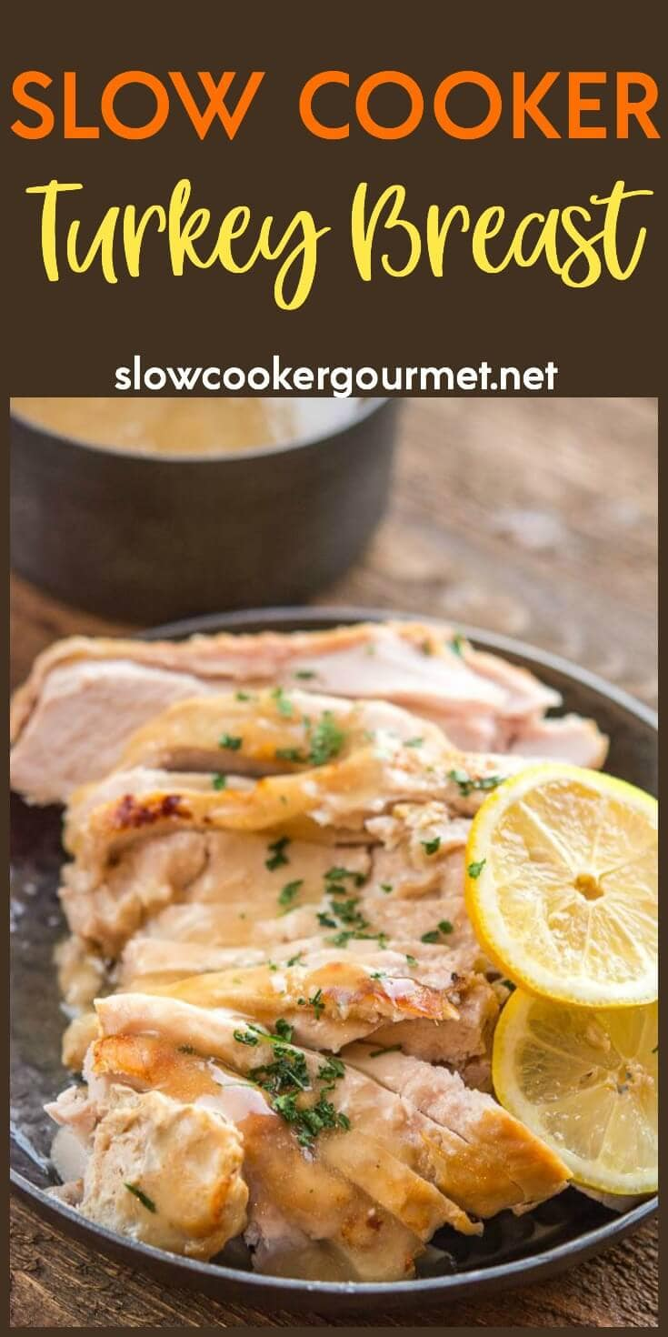 If you've ever wondered about how to make a turkey breast without the hassle, this easy 4 ingredient turkey breast recipe from the slow cooker is simple, juicy and delicious!
