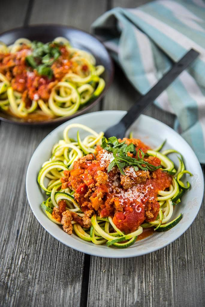 Slow Cooker Turkey Bolognese with Zoodles