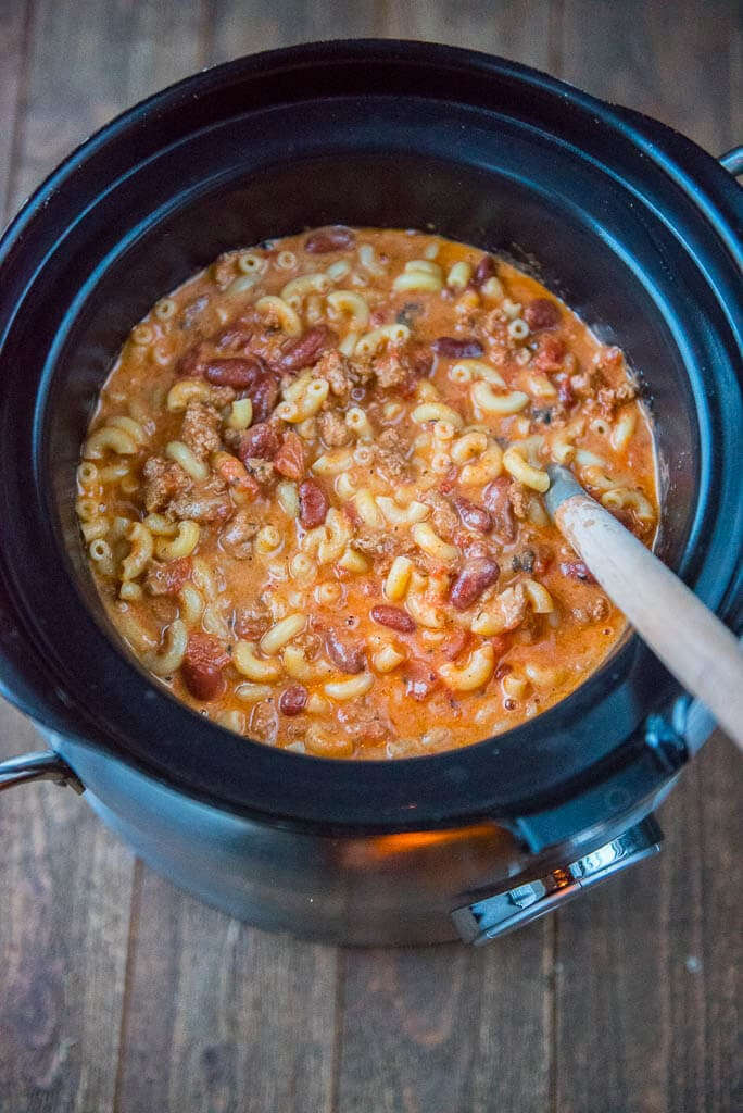 Slow Cooker Chili Mac