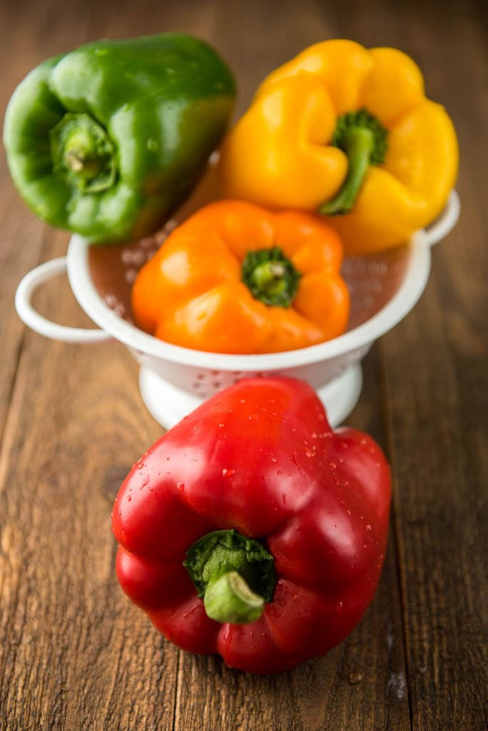Slow Cooker Breakfast Stuffed Peppers