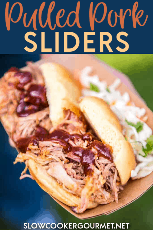 Pulled Pork Sliders that are delicious enough to go up against the best food truck fare! Use your slow cooker or your smoker to make the best pulled pork in town! #pulledpork #sliders #smoker #slowcooker