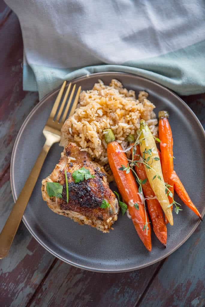 Slow Cooker Baked Chicken Thighs with Rice