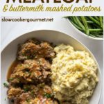If you need an easy slow cooker meatloaf recipe, I have the perfect one for you! It's delicious and satisfies your craving for comfort food when paired with creamy slow cooker mashed potatoes. #meatloaf #mashedpotatoes #slowcooker #slowcookerrecipe #crockpot