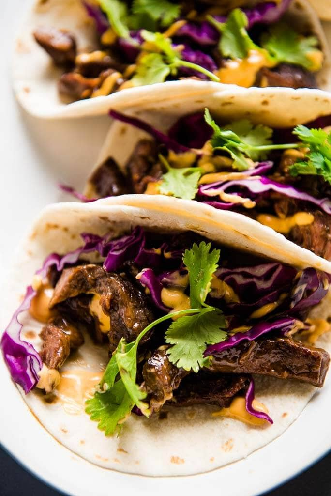 slow cooker Korean beef taco