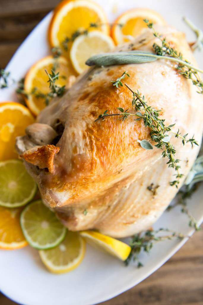 roasted turkey with herbs and citrus