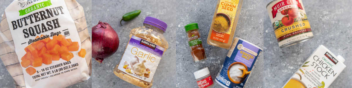 ingredient collage for slow cooker turkey chili