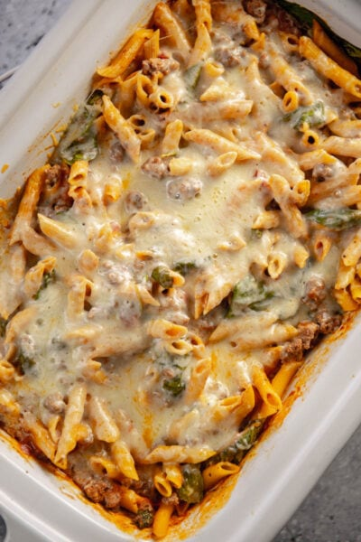 pasta bake in casserole slow cooker
