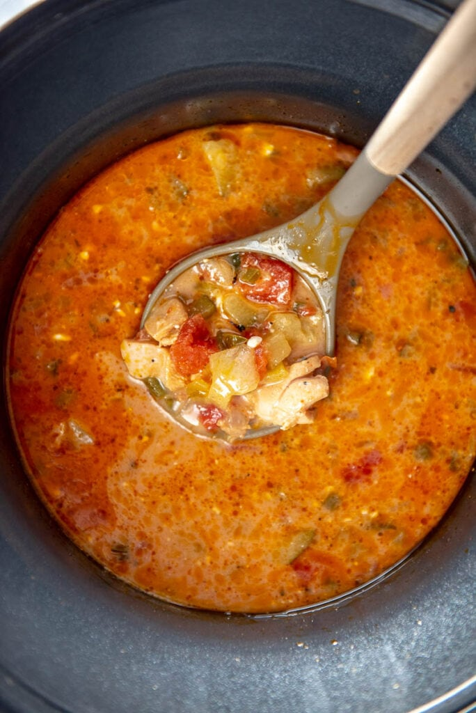 chicken taco soup in slow cooker