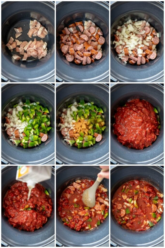 preparation pictures of jambalaya