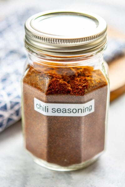 jar of homemade chili seasoning