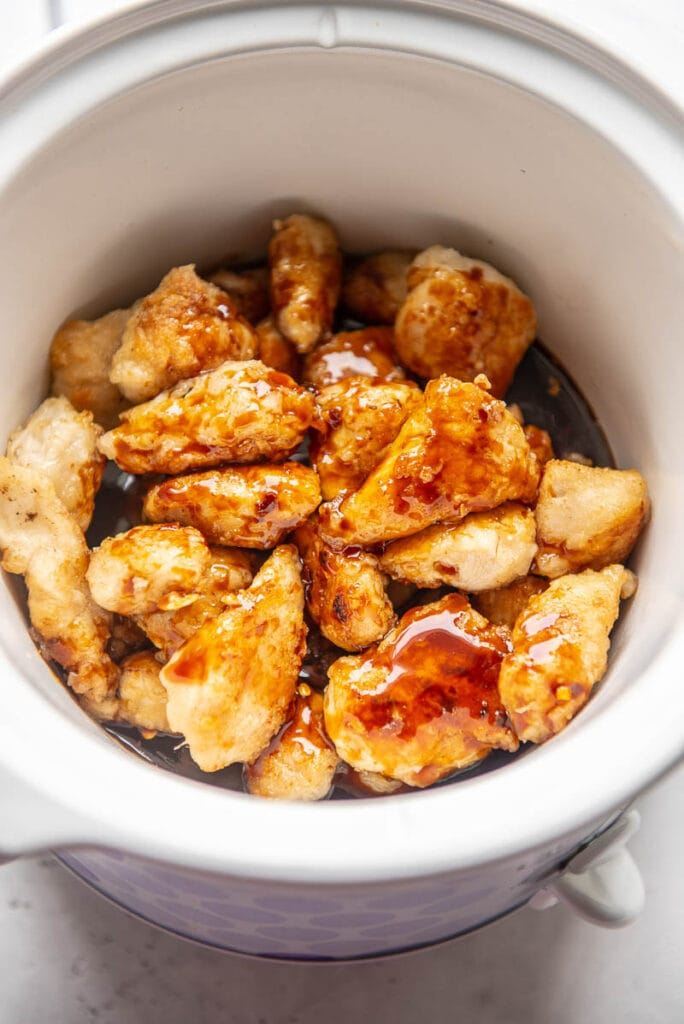 general tso chicken in a slow cooker