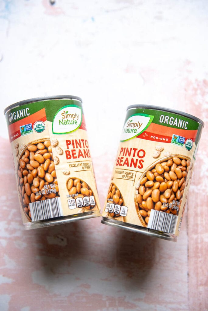 2 cans pinto beans