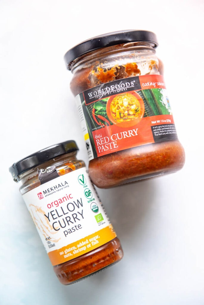 two jars of curry paste