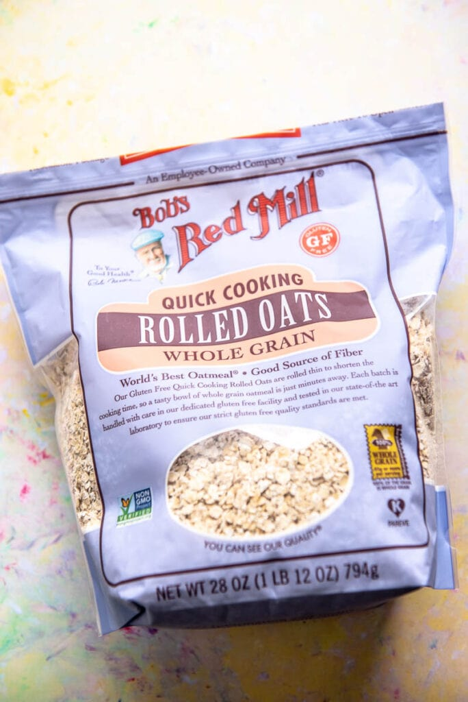 package of Bob's Red Mill Rolled Oats